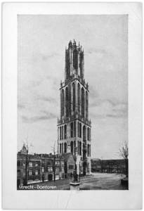 Postcard bought by Alexandre Kojève during his visit to the Dom Church, Utrecht, the Netherlands. Courtesy Bibliothèque nationale de France. © Nina Kousnetzoff.