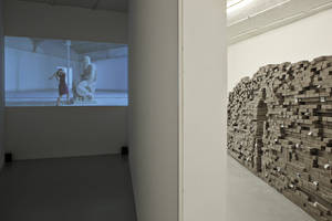 Cristina Lucas, Habla, 2008; Lin Yilin, The Result of a lot of Pieces, 2011, Installation View